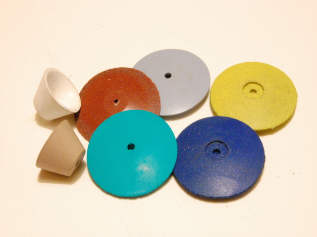 A selection of rubber abrasives